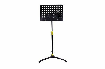 NEW Black & Yellow Folding Autolock Music Stand Heavy Base Strong Sturdy Durable