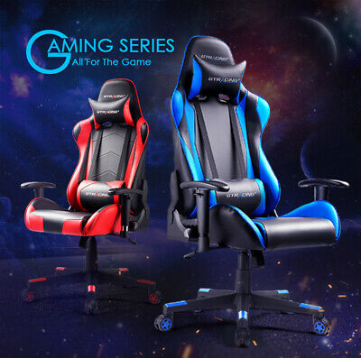 GT Racing chair Executive Gaming chair Ergonomic Leather Recliner Office desk US