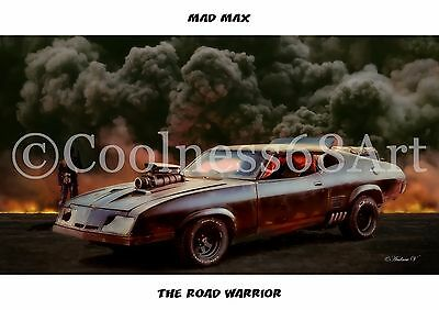 A4 size Mad Max The Road Warrior Original Art Print