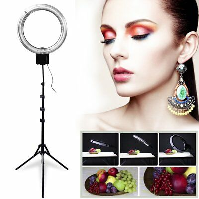 Studio 65W 5400K Diva Ring Light + 6' 185cm Stand for Make UP Photo Video US