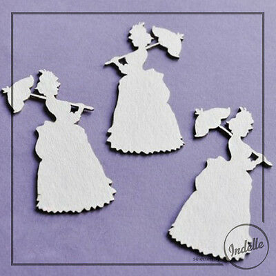 Lady Chipboard Shapes Card Making Embellishments Papercraft Scrapbooking 3 Pack