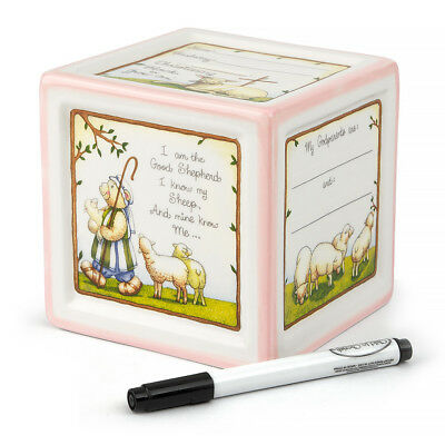 NEW Child To Cherish Christening Block To Grow Pink Money Box
