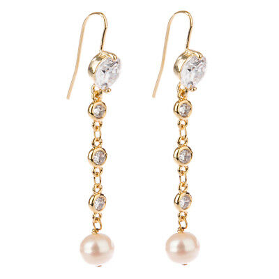 NEW Bowerhaus Pearl and Silver Stone Gold Earrings