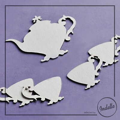 Tea Set Chipboard Shapes Card Making Embellishments Papercraft 5 Elements