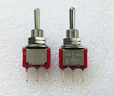 2pcs Mini Toggle Switch SPDT Centre Off Momentary BOTH SIDES - SALECOM S1333