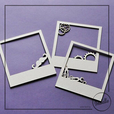 Man's World Chipboard Frames Card Making Papercraft Scrapbooking Shapes 3 Pack