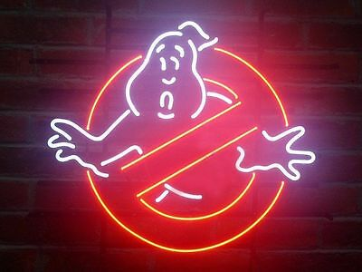 """New Ghostbusters Ghost Game Room Neon Sign 17""""X14"""""""