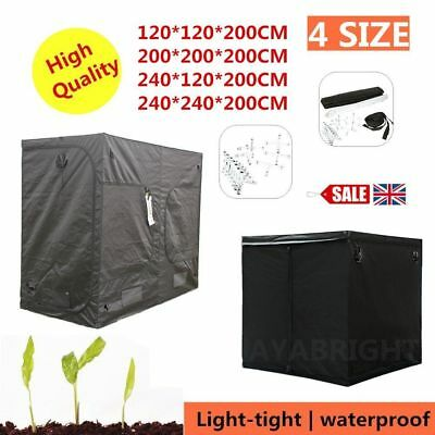 Indoor Plant Grow Tent Box Silver Mylar Lined Bud Dark Green Room Hydroponics DE