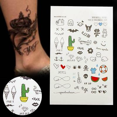 1 sheet Cartoon Kids fake Temporary Tattoo Inspired Body Makeup Sticker Tatto A