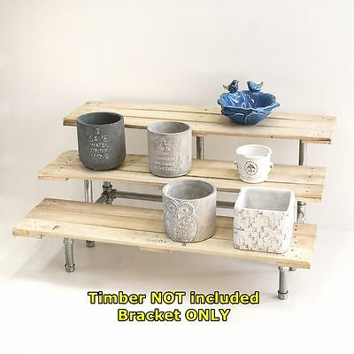 Rustic Industrial Pipe Display Storage 3 Tier Wedding Cake Stand Shelf Brackets