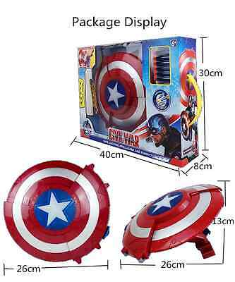 Civil War Captain America Led & Music Blaster Reveal Shield Kids Boy Cosplay Toy