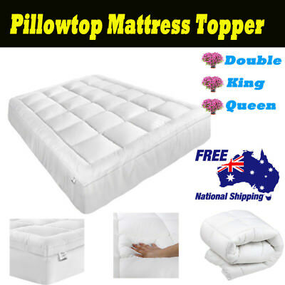 Pillowtop Mattress Topper Memory Protector Cover Bed Pad Double/ King/ Queen AU