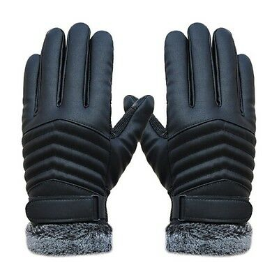 Men's Warm Motorcycle Sports Gloves Windproof Driving Hiking  Fingers Protector