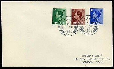 "1936 KEVIII FIRST DAY COVER ""KING EDWARD BANFF"" cds"