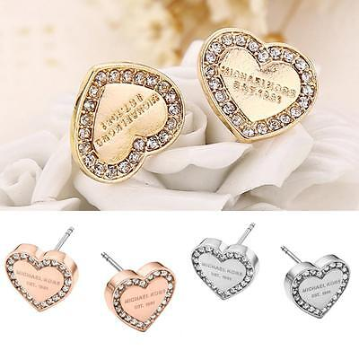 Fashion Women Charms Jewelry Rhinestone Crystal Ear Stud Hoop Drop Earrings CC