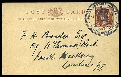 1890 Penny Postage Jubilee South Kensington Special Event Postmark