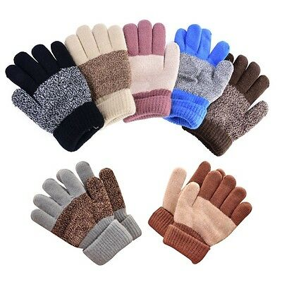 Unisex Baby Kids Winter Full Finger Warm Gloves Child Boys Girls Outdoor Gloves