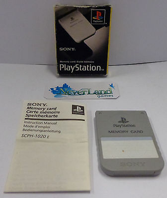 Console Gioco Game SONY Playstation 1 PS1 PSX PSOne Play - MEMORY CARD Originale