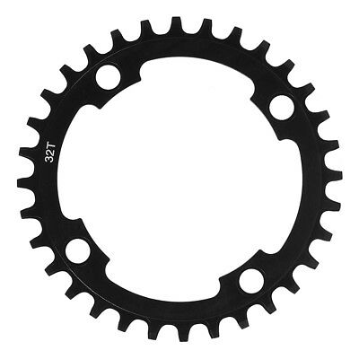 Chainring Narrow Wide Single 7075 Aluminum 32T-38T 104 BCD 9/10/11 Speed Black