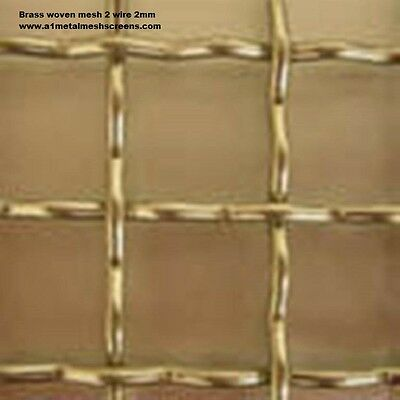 Brass woven wire mesh 1mt length