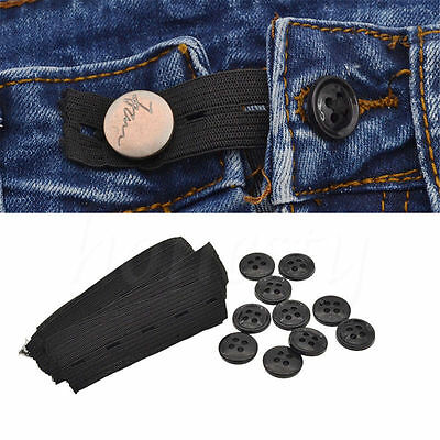 10Pcs Trousers Jean Pants Waist Expander Waistband Extender Pregnant Accessories