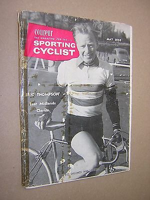 Coureur. Sporting Cyclist. May 1959. Illustrated Cycling Magazine.