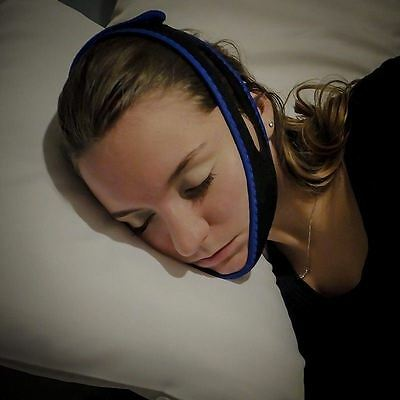 Anti Snore Sleep Chin Strap Stop Snoring Belt Jaw Solution Support