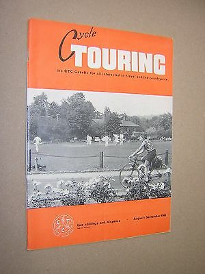 Cycle Touring. Aug-Sept 1966. Illustrated Cycling Magazine.