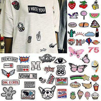 HA  DIY Fabric Sticker Embroidery Badge Patch Clothes
