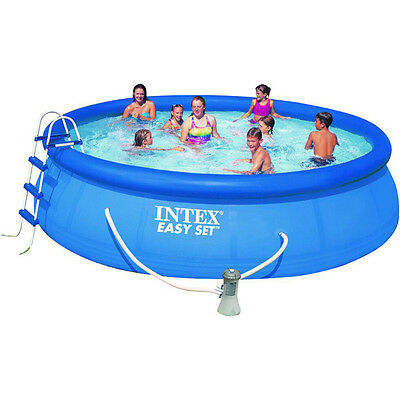 """Intex 15ft x 48"""" Easy Set Swimming Pool with Filter Pump (28168)"""