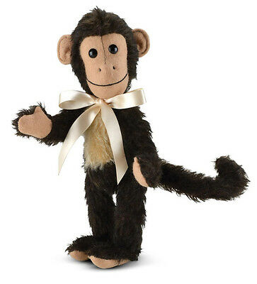 Merrythought Milo Monkey classic jointed mohair - 23cm / 9 inches - MMU9 - MIB