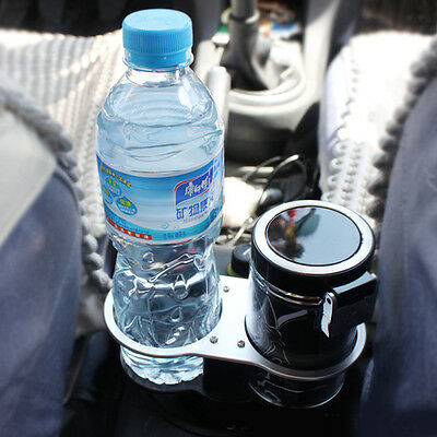 1x Auto Dual Drink Holder Car Cup Holder Holder Stand Car Double Wedge Seat