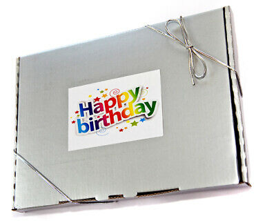 Happy Birthday - Chocolate Selection Silver Gift Box - Letterbox Friendly
