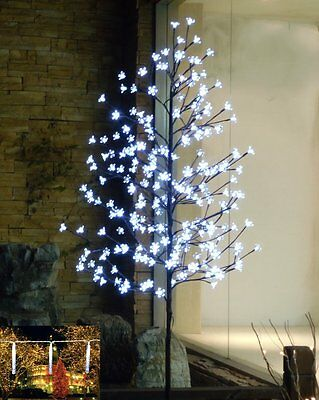6 FT 240 LED Cherry Blossom Tree Indoor Sturdy White Flower Patio Light Pre-Lit