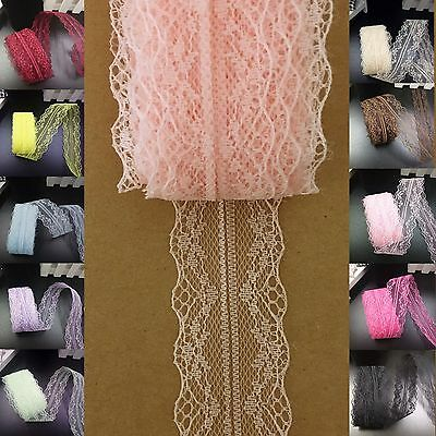 5 yds Lace Ribbon Vintage 4cm Bilateral Trim scrapbook sewing craft  #584