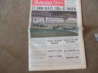 Motoring News 2 July 1970 Rouen F2 Lotus 7 S4 St Jovite Can-Am Anderstorp 5000