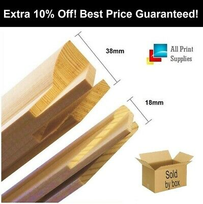 Canvas Stretcher Bars, Canvas Frames, Pine Wood 18mm & 38mm Thick__Sold By Box.