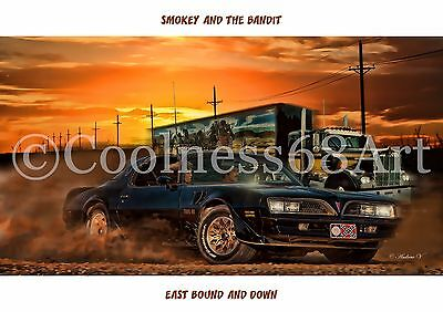 A4 size Smokey And The Bandit Original Art Print