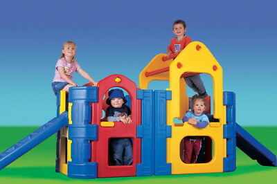 SHIPPING INLCUDED  Maxi Climber / Play Gym with 2 Slides, Sprinkler Bar