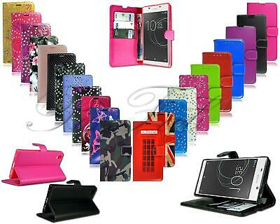 For Sony Xperia L1 G3311 New Genuine Black Stylish Leather Wallet Phone Case
