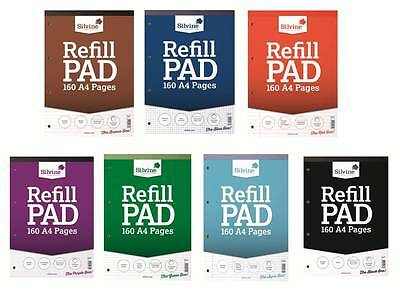 Silvine A4 Refill Pad 160 Pages 75gsm (Ruled, Plain, Graph and Squares)