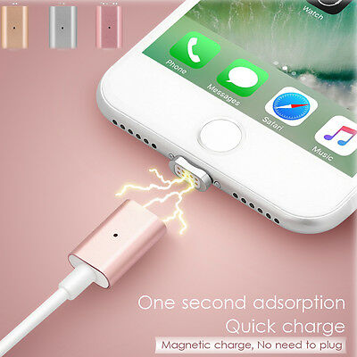 Braided Magnetic Lightning Fast Charging Charger Cable for iPhone  7 6 6s 5 X 8
