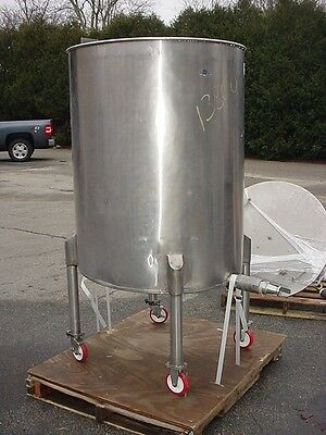200 gallon Stainless Steel Tank on wheels slant bottom open top