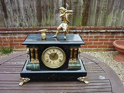 A stunning 19th Century  Ormolu Figural Mantel Clock. French  style American
