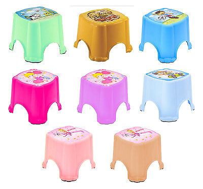 Unisex Multi Purpose Sturdy Plastic Step Stool Home Kitchen Stacking Kids Child