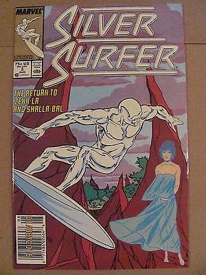 Silver Surfer #2 Marvel Comics 1987 Series Newsstand Edition 9.2 Near Mint