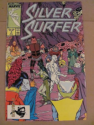 Silver Surfer #4 Marvel Comics 1987 Series 9.2 Near Mint