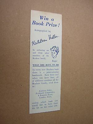 KATHLEEN FIDLER BOOKMARK. circa 1950's. CHILDREN'S AUTHOR