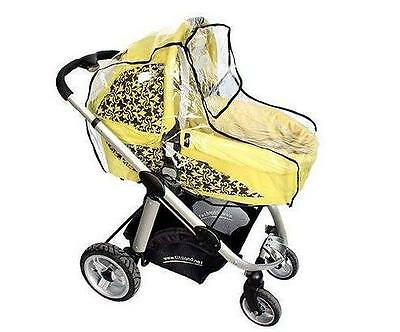Universal Highly Transparent Bassinet Rain Cover Fits Carry Cots Prams Buggies