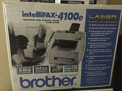 Brother IntelliFAX Laser Plain-Paper Fax Machine (4100e)
